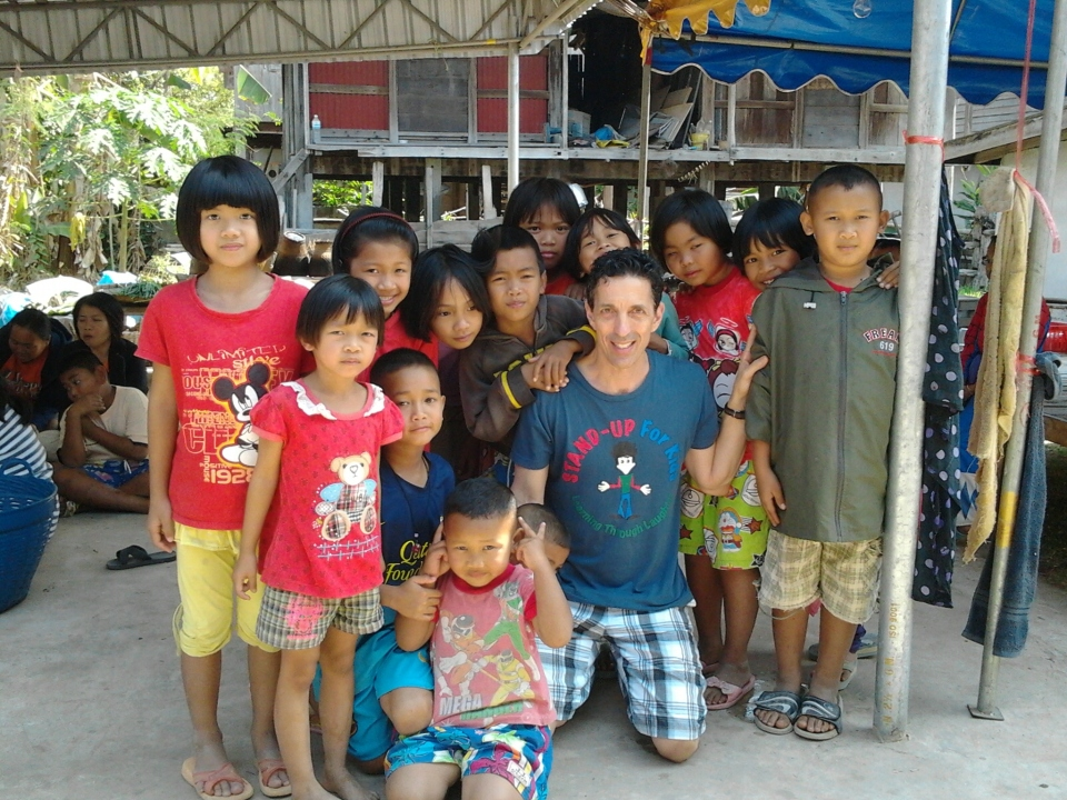 The wonderful children and me in Mahasarakham Province of Northeast Thailand