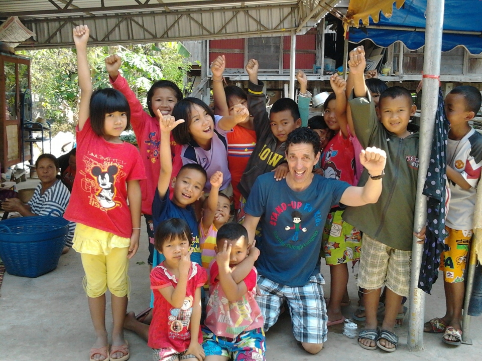 Isaan Children Cheering After a Fun Day:)
